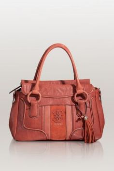 5d6ed9bfab Guess Chesca Satchel in Rust
