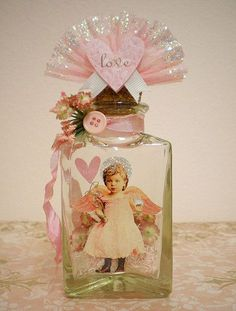 Decorated bottle ♥ —  (485×640)