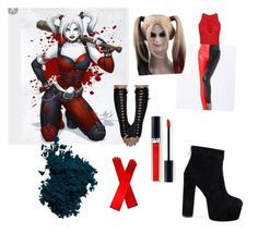 """""""Harley Quinn  inspired outfit"""" by daisymaybowman on Polyvore featuring WithChic, Laura Mercier and Christian Dior"""
