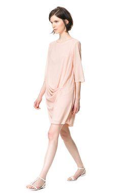 DRAPED DRESS from Zara