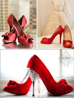 Mmmm red wedding shoes