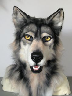 Realistic Grey Wolf Mask for sale! by MaewynShadowtail