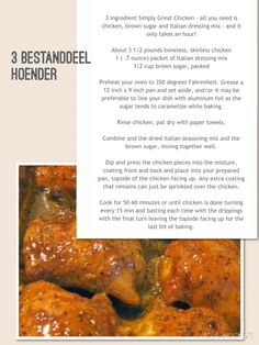 3 Bestandeel Hoender Easy Chicken Rice Casserole, Easy Chicken And Rice, Casserole Recipes, Meat Recipes, Chicken Recipes, Recipe Chicken, South African Recipes, Ethnic Recipes, Soups And Stews