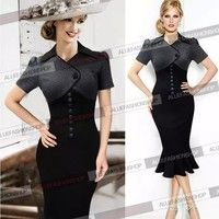 I think you'll like 2015 Womens Summer Elegant Vintage Pinup Puff Sleeve Colorblock Cocktail Party Work Bodycon Mermaid Midi Dress. Add it to your wishlist!  http://www.wish.com/c/5510e4c53fa6f80d133ae3c6
