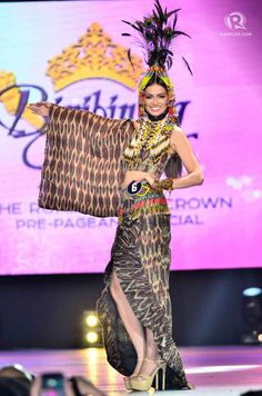 IN PHOTOS: Bb Pilipinas 2015 national costume competition Modern Filipiniana Dress, Philippines Culture, Tribal Costume, Filipino Tribal, Filipina, Burlesque, Competition, Prom Dresses, Gowns