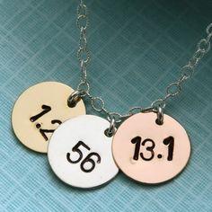 Hand Stamped Triathlon Necklace.