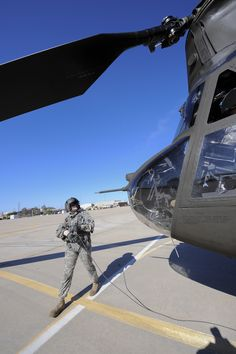 U.S. Army Staff Sgt. Westly Vincent, Task Force Tatanka, CH-47D Chinook flight engineer, conducts start up procedures prior take off during Exercise Angel Thunder at Davis-Monthan Air Force Base, Ariz., June 2, 2015. Angel Thunder is from May 30-June 13, operating mainly out of Davis-Monthan Air Force Base but many flying operations will extend throughout Arizona. Task Force Tatanka is made up of three companies from the Montana Army National Guard's 1-189th General Support Aviation…