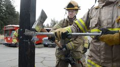 Firefighter forcible entry training