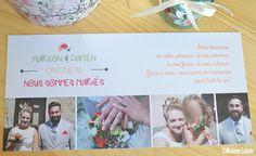 Mariage Champêtre : un carton de remerciements pour des jeunes mariés !