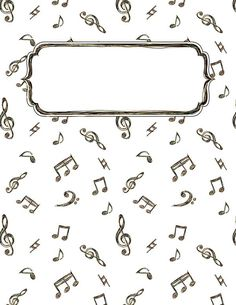 Music Doodle Binder Cover - LOTS of Free Binder Covers on this site. Binder Covers Free, Binder Cover Templates, School Binder Covers, Templates Free, Colouring Pages, Adult Coloring Pages, Diy Cahier, Goodnotes 4, Music Doodle