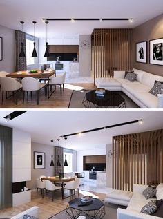 11 Ideas For Making Your Room Feel Taller // Vertical Lines -- Much like the last two ideas, vertical lines elongate a space by directing your eyes toward the ceiling and tricking your brain into thinking the space is taller than it actually is.