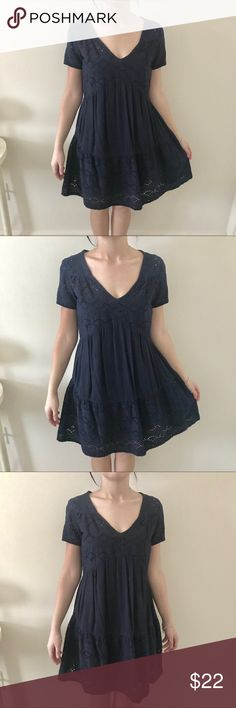 Knox rose two piece dress Knox rose navy two piece dress comes with slip not attached to dress & the dress the dress has such a pretty design picture do no justice for how gorgeous & perfect for fall this dress navy blue knox rose Dresses Mini