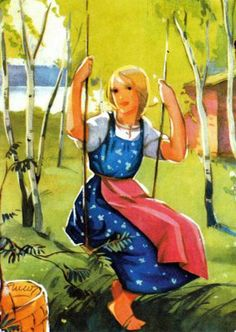 Magazine cover 1938 from Finland - Illustration by Martta Wendelin (Finland) Graphic Design Illustration, Illustration Art, Girl Face Drawing, Inspiration Art, Museum Exhibition, Happy Fun, Vintage Greeting Cards, Christmas Art, Vintage Posters