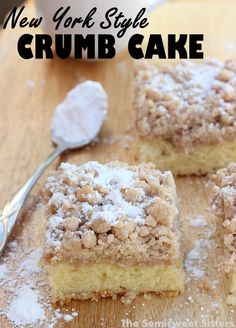 The best recipe for New York Style Crumb Cake