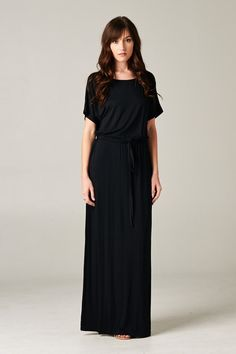 Looking for a chic but casual maxi dress? Our Live Tonight maxi dress features pretty dolman sleeves with elastic drawstring waist. Comfy enough to wear around the house, but chic enough to wear out.
