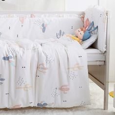 baeb7903 7 unids bebé Ropa de cama set edredón del bebé Nursery cuna Ropa de cama  edredón del bebé cuna parachoques, (4 parachoques + hoja + almohadilla +  edredón