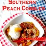 Southern Peach Cobbler {Recipe} ( I just made it and it tastes really good)
