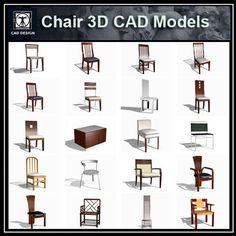 Chair 3D Cad Models