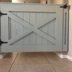 Rustic Dog/ Baby Gate Barn Door Style w/ side panels Baby Door, Barn Door, Paneling, Barn, Painted Staircases, Baby Gates, Panel Siding, Dutch Door, Doors