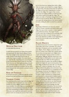 DnD 5e Homebrew — Witch Doctor Sorcerer by PoundTown00