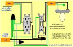 Wiring A Switch Middle Of Circuit . Circuit wiring diagram design a circuit wiring a service electrical wiring parallel ground fault circuit breaker wiring Basic Electrical Wiring, Electrical Projects, Electrical Outlets, Electronics Projects, 3 Way Switch Wiring, Outlet Wiring, Tv Built In, House Wiring, Maine