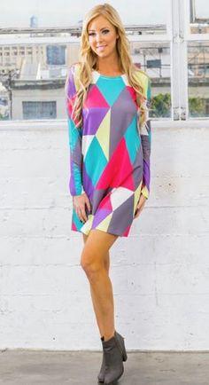 Colorful tunic dress