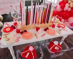 Valentine's Day Guest Table from a Valentine Cupid Party for Kids on Kara's Party Ideas | KarasPartyIdeas.com (14)