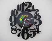 clock made from a vinyl record