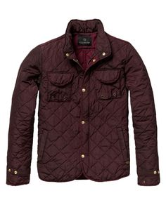 Diamond quilted shirt jacket - Jackets - Scotch & Soda Online Shop