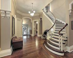 изогнутая монолитная лестница