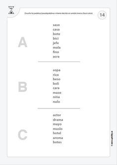 VELOCIDAD DE PROCESAMIENTO | Estrategias de intervención Number Sequence, Speech And Language, Learning Activities, Sentences, Worksheets, Writing, Math, Words, Therapy