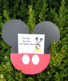 50 Mickey Mouse Invitations, Mickey Mouse Party, Mickey Mouse. $87.50, via Etsy.