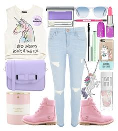 """""""Unicorn Love"""" by unicorn-mc-rainbow ❤ liked on Polyvore featuring Clinique, Forever 21, Kate Spade, River Island, Artistique, Timberland, Casetify, Lime Crime, Pieces and Oliver Peoples"""