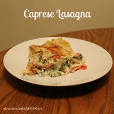 If you love everything caprese then this Caprese Lasagna is the perfect thing for you!