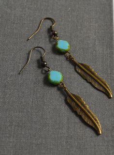 Native Inspired Feather Earrings