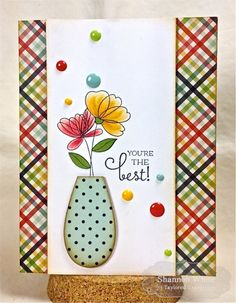 You're the Best Card by Shannon White #Cardmaking, #ThankYou, #Encouragement