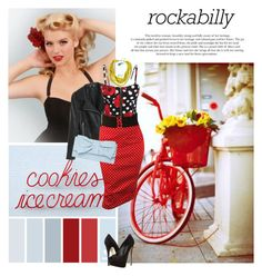 """""""Rockabilly Pin up Girl"""" by colierollers ❤ liked on Polyvore featuring Chicnova Fashion, Switchblade Stiletto, Giuseppe Zanotti and Dorothy Perkins"""