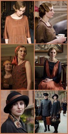 Lady Edith, costumes de Downton Abbey saison 4