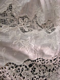 off white cotton lace fabric retro white lace fabric by LaceFun