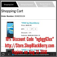 """@BlackBerry @BlackBerryClubs #BBEliteWin  10% Discount Code """"ngbgg63ux"""" http://ift.tt/ZML6Bt  Expires on Aug 31 2016  The code is redeemable for BlackBerry PRIV BlackBerry Passport (SE) BlackBerry Classic and BlackBerry Leap.  BlackBerry Devices Discount Code !!! Please forward this to all your friends. :) #BlackBerry #BlackBerryClubs #BBer #ShopBlackBerry #BlackBerry #BlackBerryPRIV #BlackBerryPassport #BlackBerryClassic #BlackBerryLeap #Discounts #Code #DiscountsCode #Offer"""