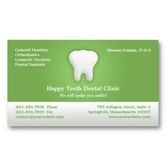 Dental, Teeth, Tooth Dentist with Appointment Business Card. It's two-sided with no additional charge, and totally customizable!