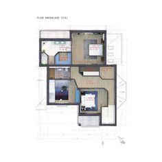 As you can see from the plans, the first floor of the villa is all about relaxation and it comprises three bedrooms and two bathrooms 🛏️✨ Design Projects, Bathrooms, Villa, Floor Plans, Relax, Flooring, How To Plan, Interior Design, Bedroom