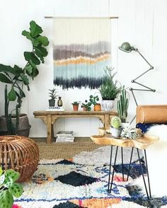 9 Beautiful Boho Wall Decor Ideas • One Brick At A Time Interior Inspiration, Room Inspiration, Ideas Geniales, Bohemian Interior, Modern Bohemian, Bohemian Style, Home And Deco, Interior Exterior, New Wall