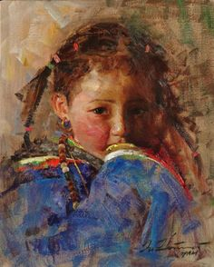 """""""Child Looking at . ."""" -- by Zhiwei Tu, Chinese"""