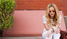 "All White Everything // Lynsey Eaton of Tomboy KC // 1.State White Top // AG White Jeans // Proenza Schouler Handbag // Made Eyewear Sunglasses // Kathryn Bobb Necklace // David Yurman Ring // REISS White Rope Bracelet // RGB ""Blonde on Blonde"" Nail Polish // Michael Kors Diva Lipstick // TKC Looks To Love"
