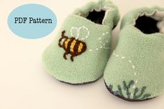 Bumble Bee Baby Shoes  PDF PATTERN by BigLittle on Etsy