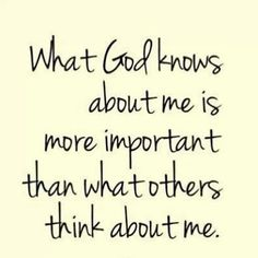 God knows me best