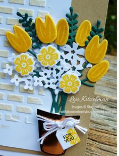 Beautiful Bouquet, Stampin' Up! With a bow on top
