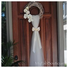 WEDDING Wreath Bridal DecorationDoor Decoration di MyFabBoutique