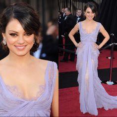 My favorite red carpet looks - Mila Kunis in Elie Saab, 2010 Oscars Mila Kunis, Bad Dresses, Pretty Dresses, Lilac Dress, Dress Up, Prom Dress, Wedding Dress, Maid Dress, Beautiful Gowns